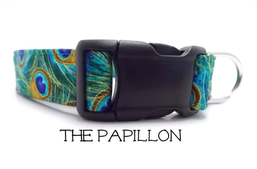 The Papillon - Peacock Dog Collar (Matching Leash Available)