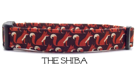 The Shiba - Brown Fox Dog Collar (Matching Leash Available)