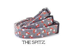 The Spitz - Gray Fox Dog Collar (Matching Leash Available)