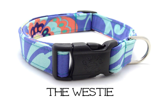 The Westie - Lavender Floral Dog Collar (Matching Leash Available)