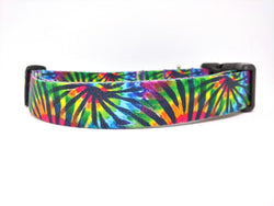 Tie Dye Webbing Dog Collar (Matching Leash Available)