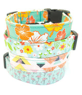 The Golden - Tropical Hibiscus Dog Collar (Matching Leash Available)