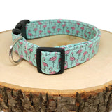 The Poodle - Flamingo Dog Collar  (Matching Leash Available)