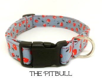 The Pitbull - Cherry Dog Collar (Matching Leash Available)