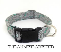 Dinosuar Dog Collar - The Chinese Crested (Matching Leash Available)