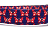 The Yorkshire - Butterfly Dog Collar (Matching Leash Available)