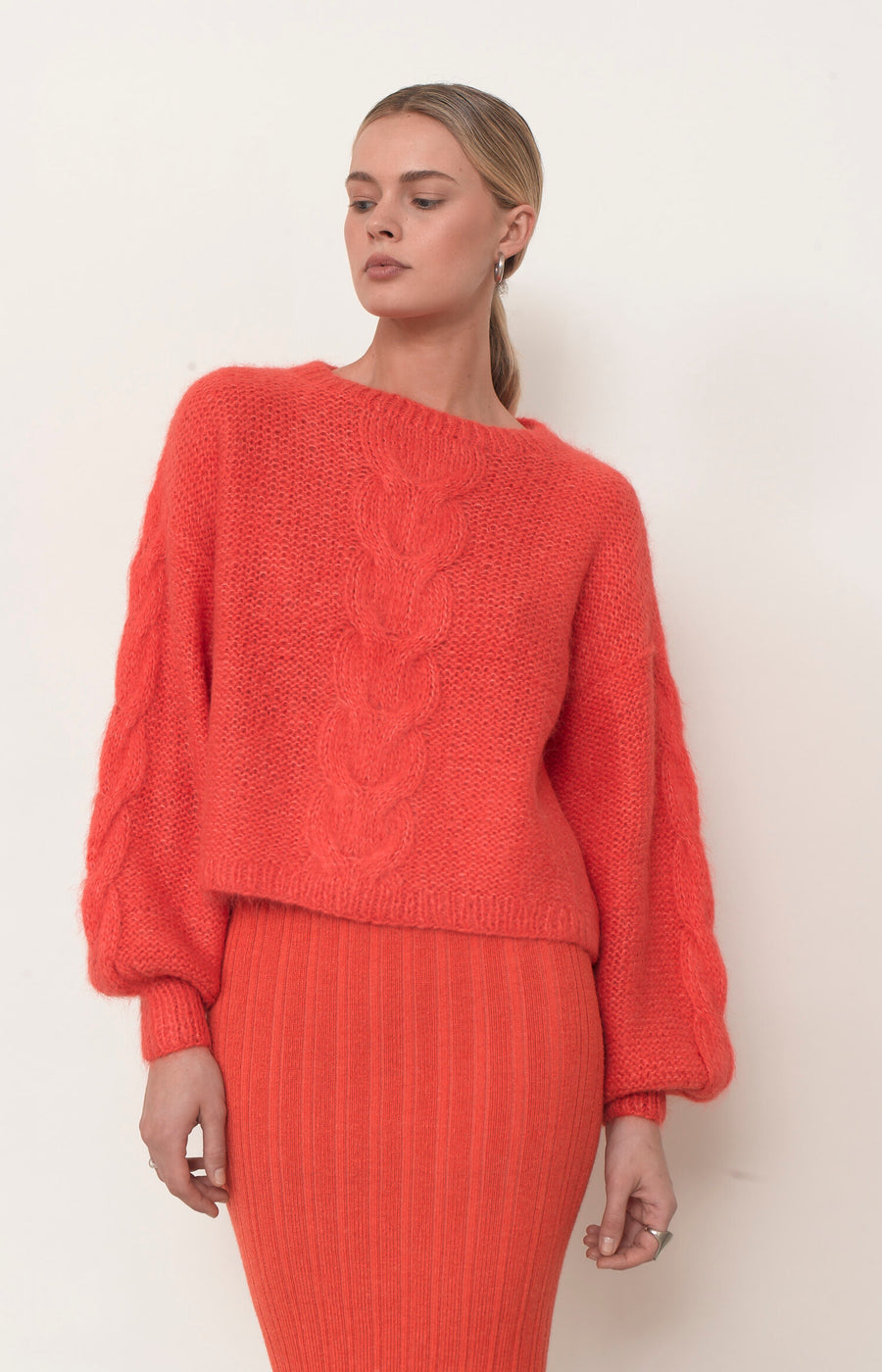 Sophia Sweater - Hot Coral