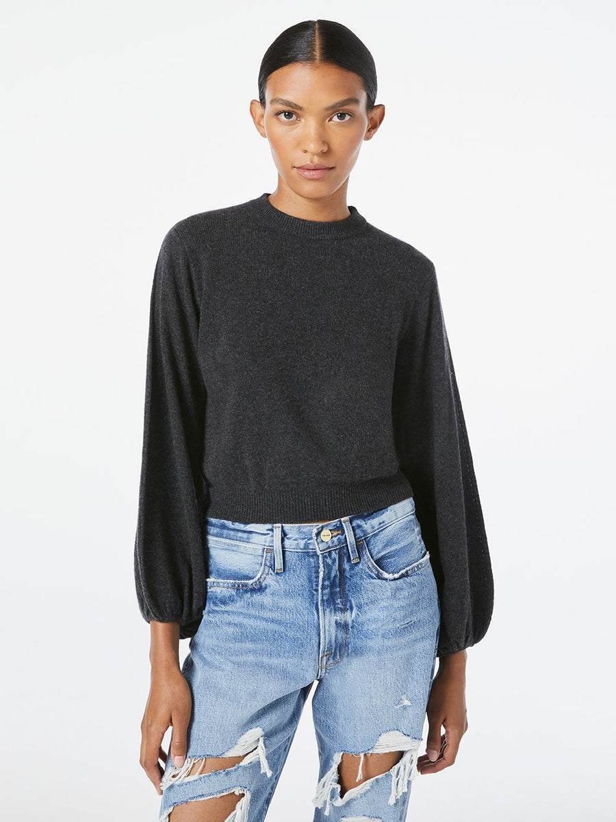 Balloon Sleeve Sweater - Charcoal Heather