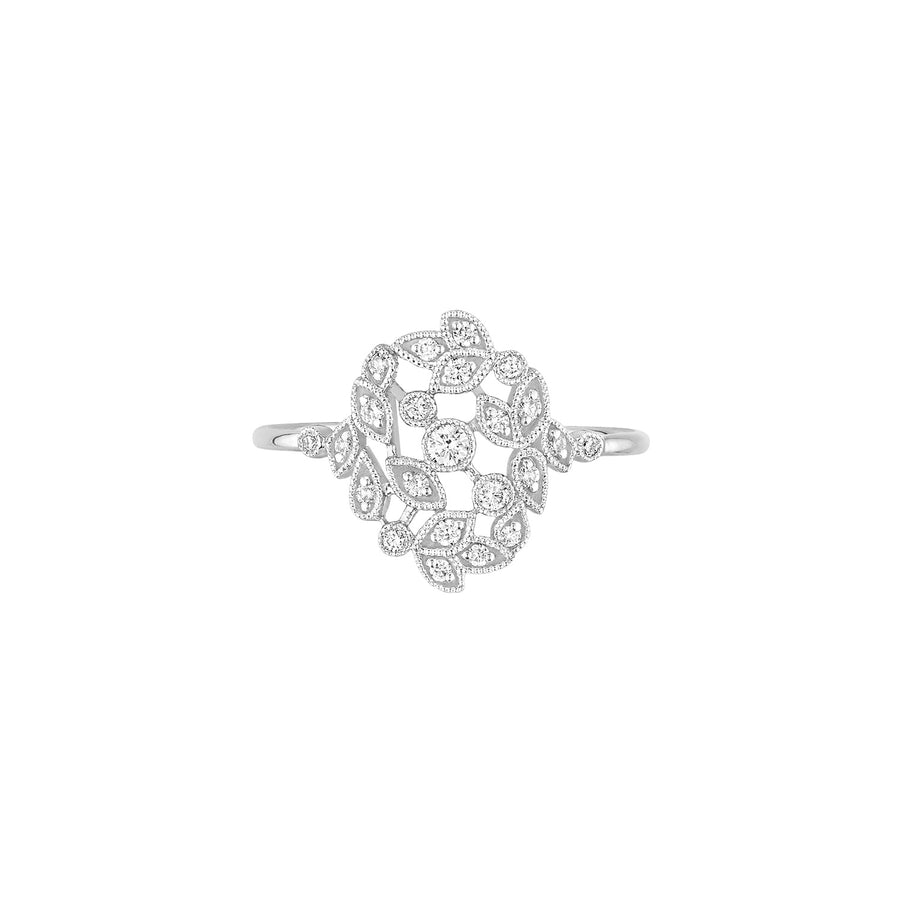 Bloom Ring - White Gold - Size 5