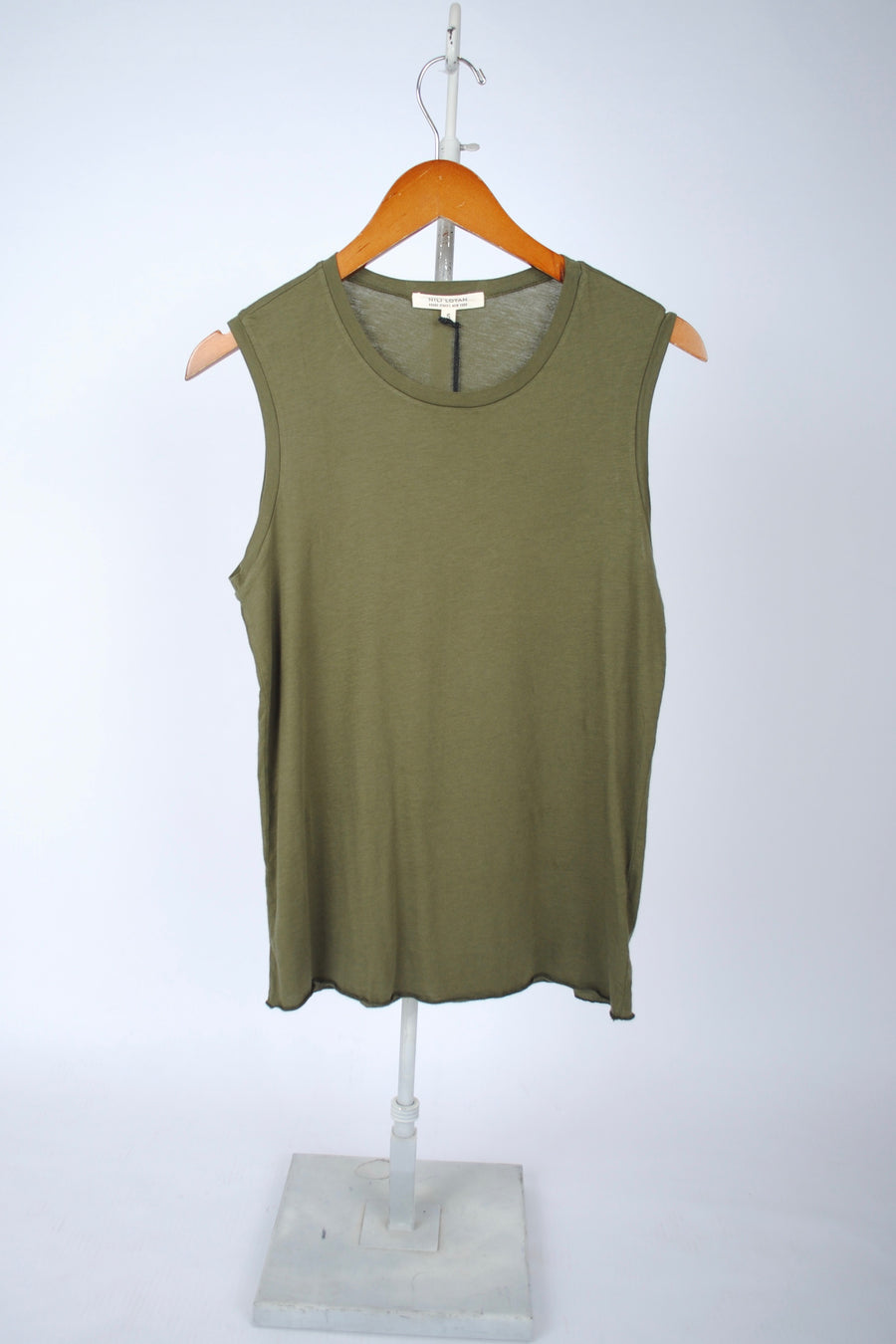 Muscle Tee - ARMY GREEN