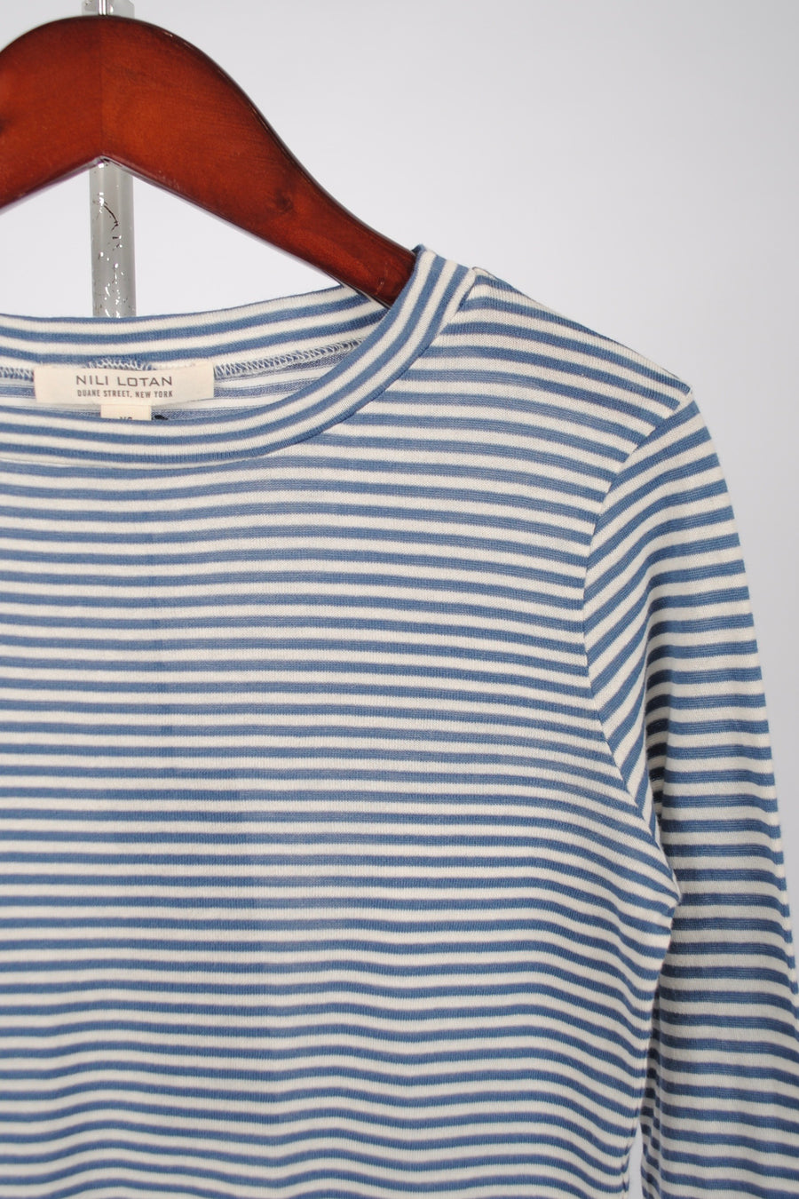Long Sleeve Shirt - Sailor Blue/White Stripe