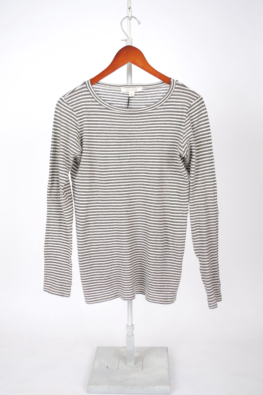 Long Sleeve Shirt - Charcoal/Stripe