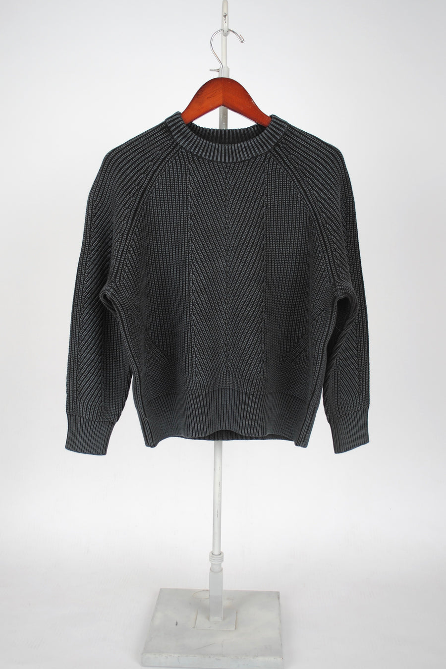 Cotton Chelsea Sweater - WASHED BLACK