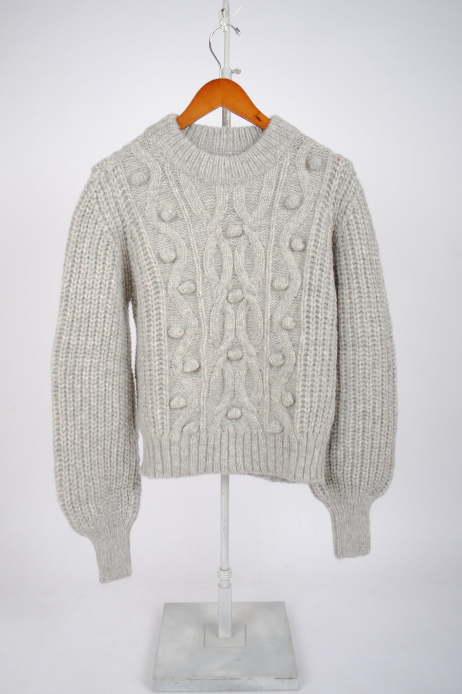 June Sweater - Pale Grey Melange