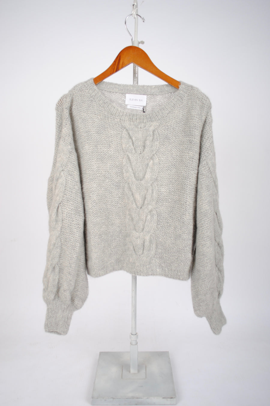 Sophia Sweater - Pale Grey Melange