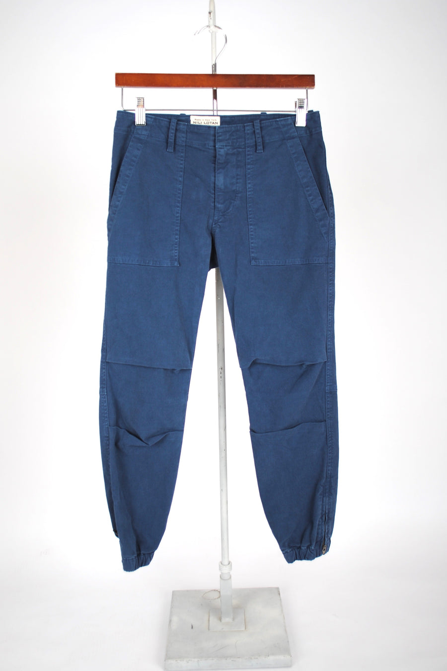 Cropped Military Pant - VINTAGE BLUE