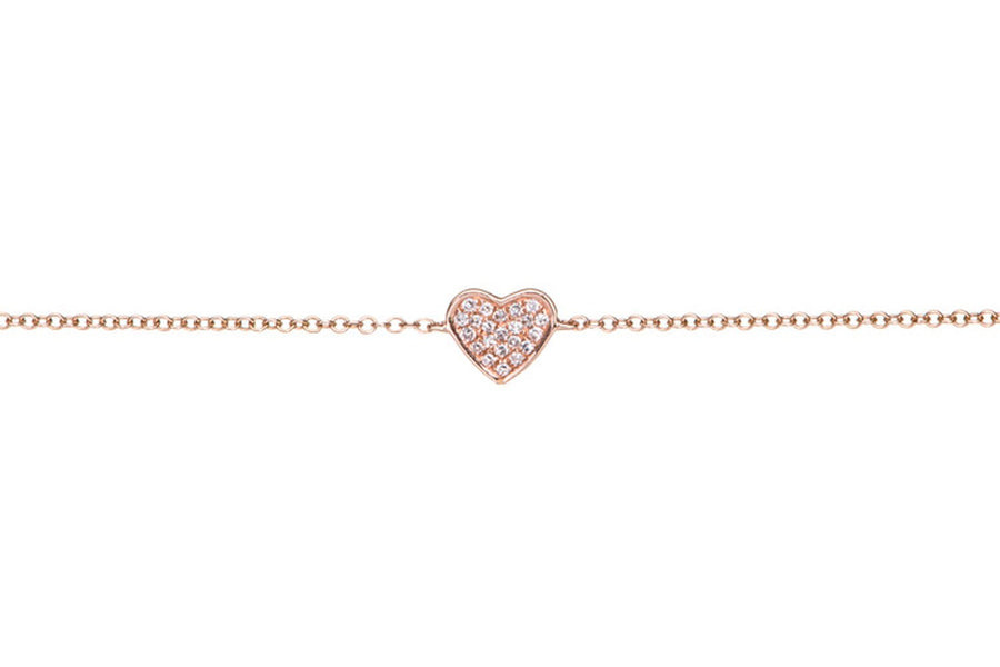 Diamond Heart Chain Bracelet