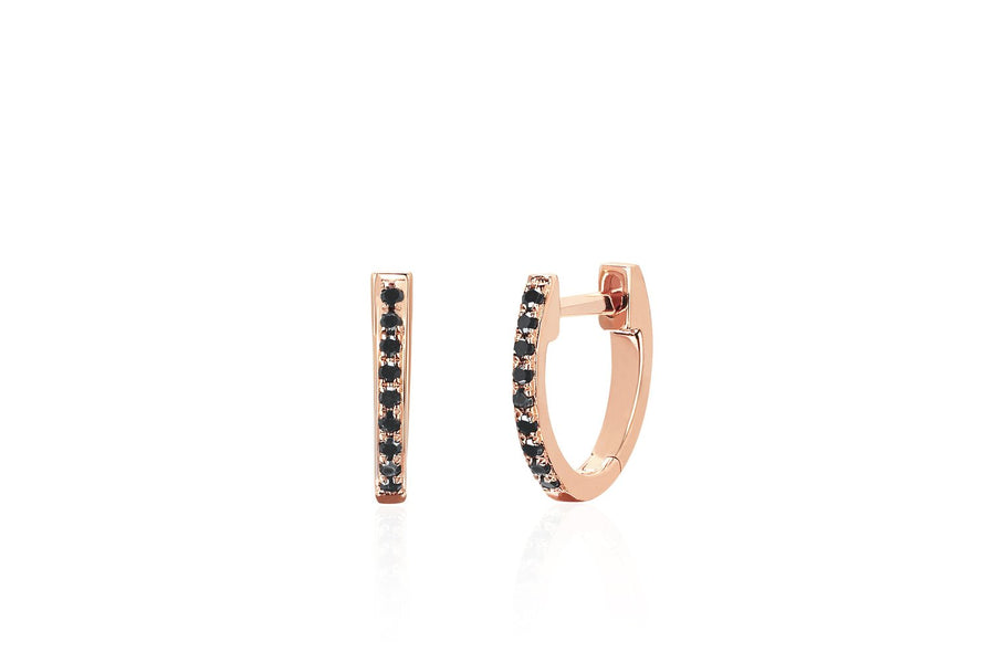Black Diamond Mini Huggie Earring