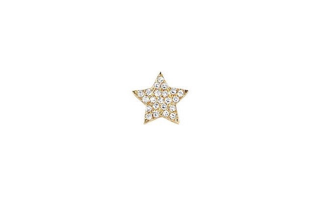 DIAMOND SINGLE STAR STUD EARRING