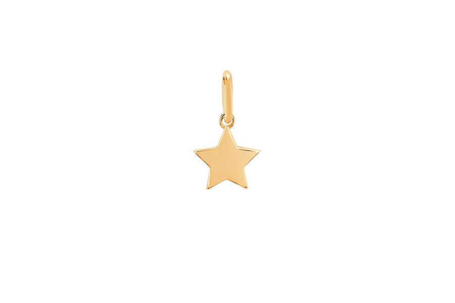 GOLD STAR NECKLACE CHARM - YELLOW GOLD