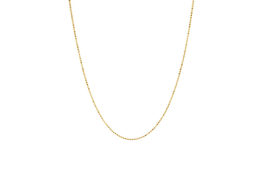GOLD FACETED BALL CHAIN - YELLOW GOLD