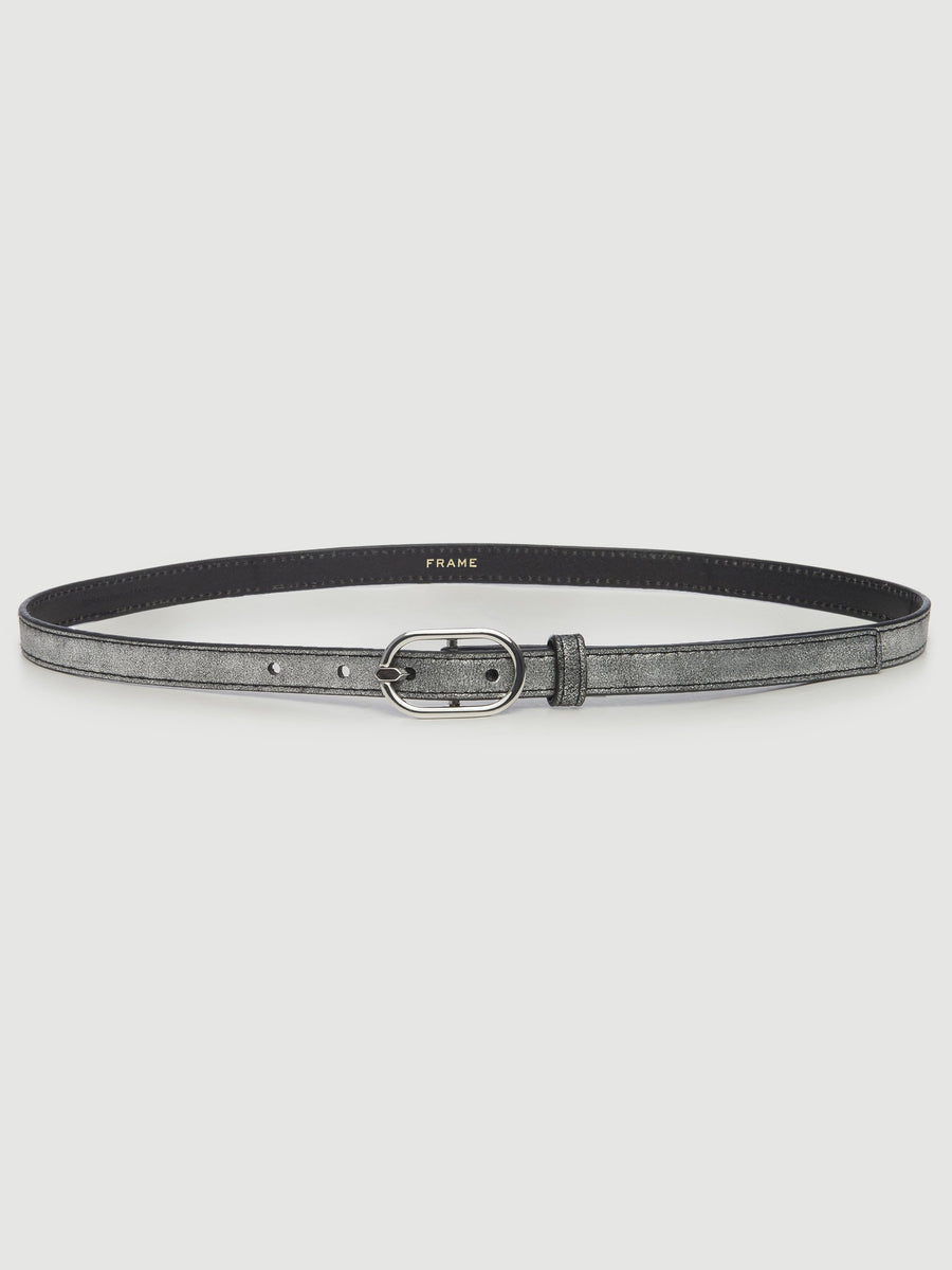 Petit Oval Buckle Belt - SILVER