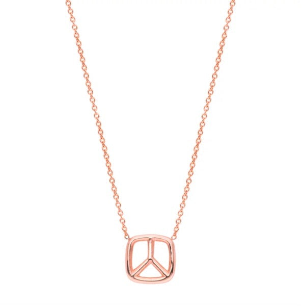 Peace Necklace -14K ROSE GOLD