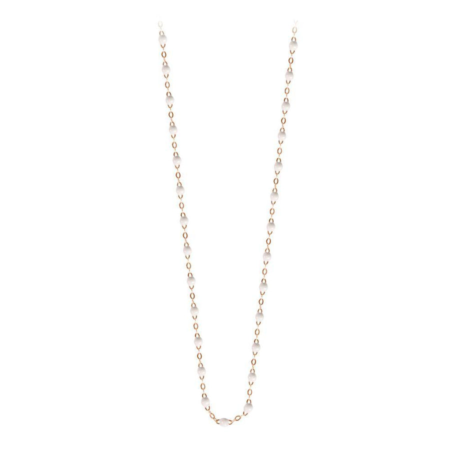 "16.5"" Classic Gigi Necklace - WHITE + ROSE GOLD"