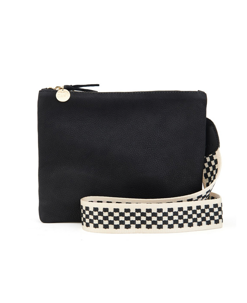 Crossbody Strap - Black & Cream Checker Webbing