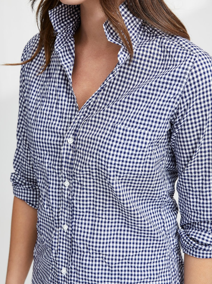 The Barry Shirt - NAVY CHECK