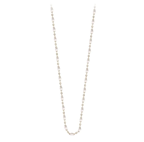 "19.7"" Classic Gigi Necklace - WHITE + YELLOW GOLD"