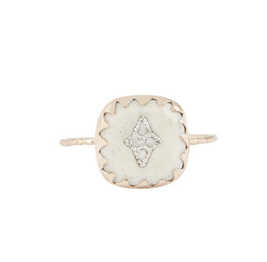 Pierrot Ring - WHITE