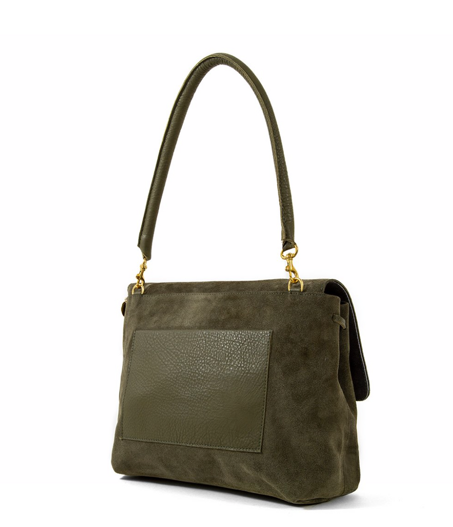 Helene Bag - Army Suede