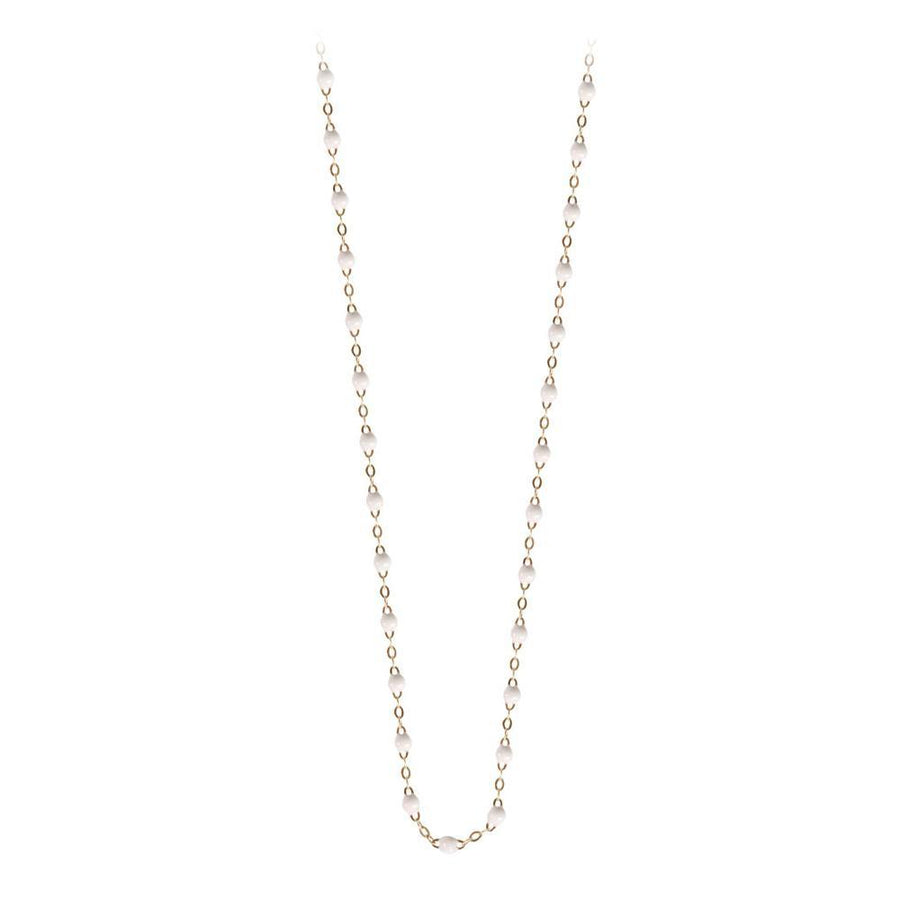 "17.7"" Classic Gigi Necklace - WHITE + YELLOW GOLD"