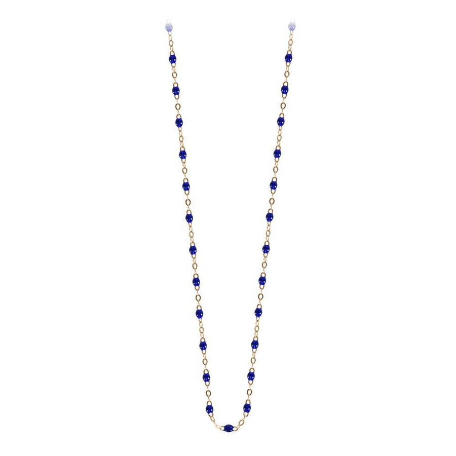 "16.5"" Classic Gigi Necklace - BLEUET + YELLOW GOLD"