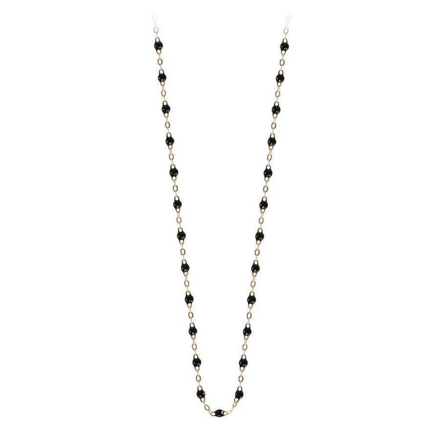 "17.7"" Classic Gigi Necklace - BLACK + YELLOW GOLD"
