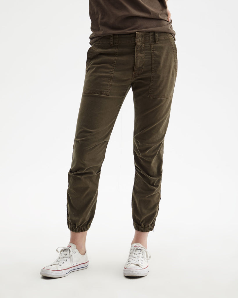 Cropped Military Pant - MOCHA
