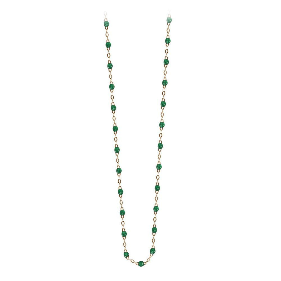 "16.5"" Classic Gigi Necklace - EMERALD + YELLOW GOLD"
