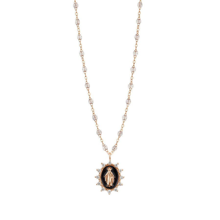Petite Supreme Madone Necklace - SPARKLE + YELLOW GOLD