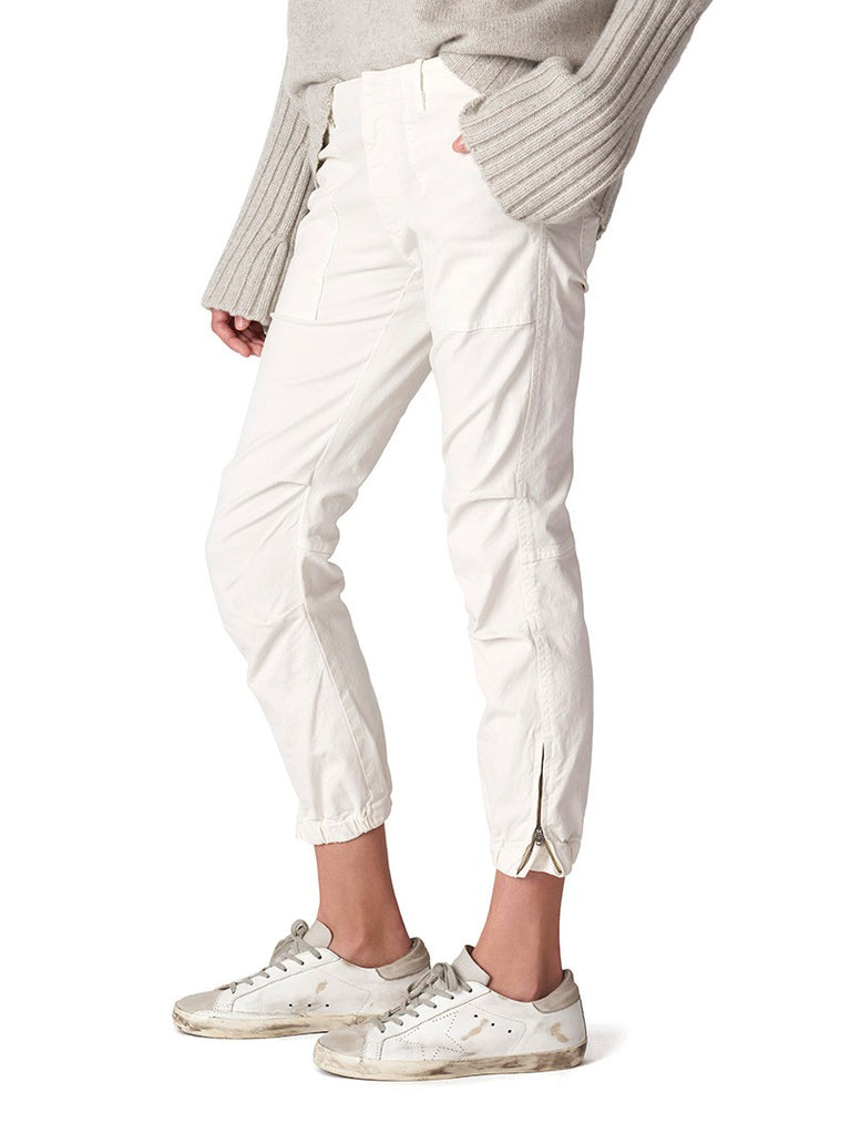 Cropped Military Pant - EGGSHELL