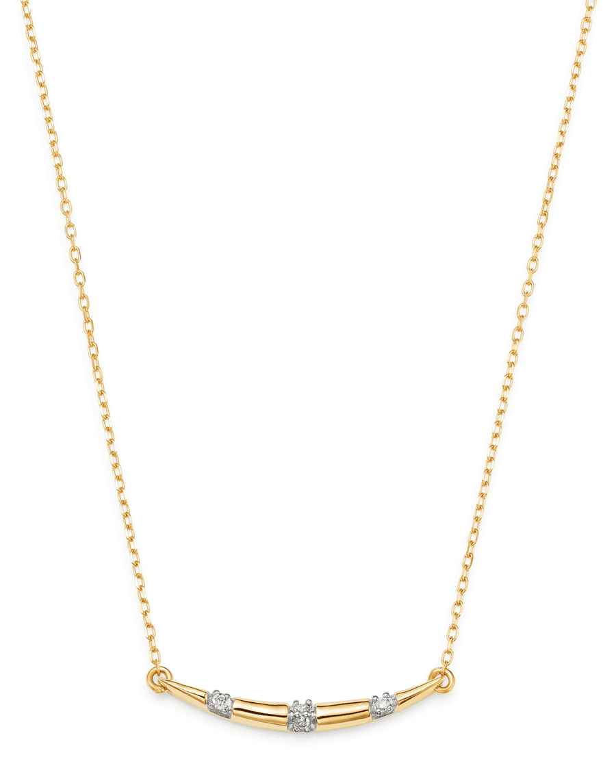 Small Pavé Stripe Curve Necklace