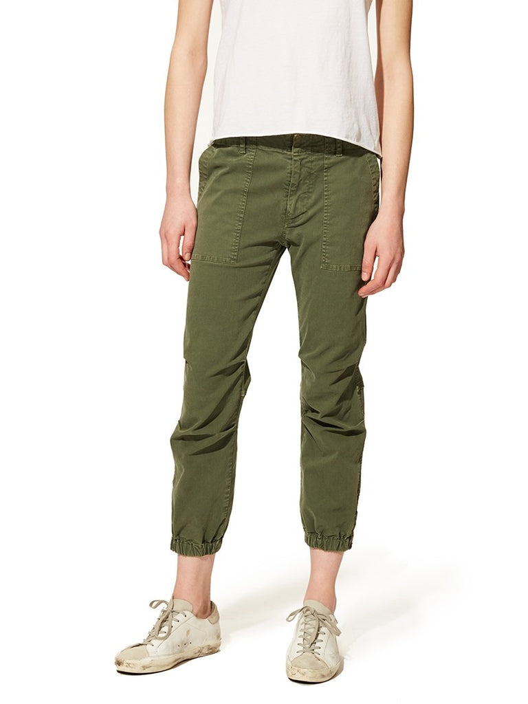 Cropped Military Pant - AVOCADO