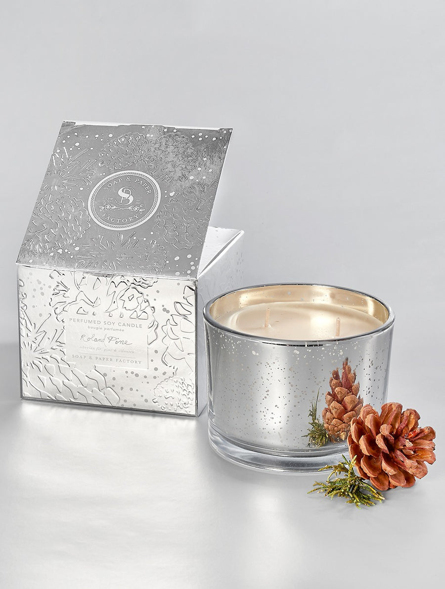 12.7 oz Roland Pine Lumiere Two-Wick Soy Candle