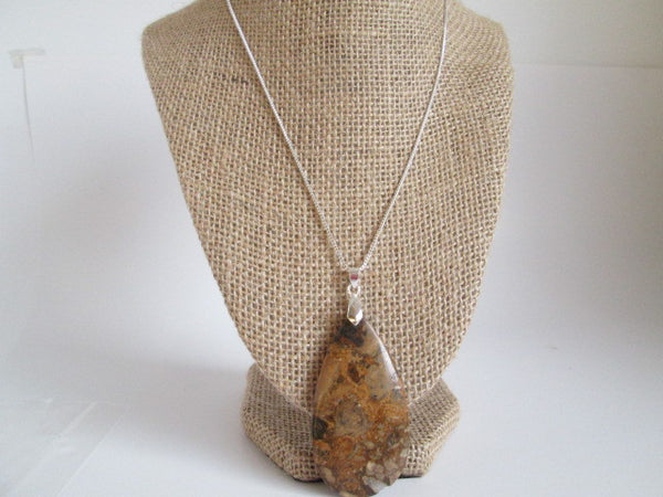 Beautiful Necklace Natural Leopard Skin Jasper Stone Pendant - SpuzzosDeals