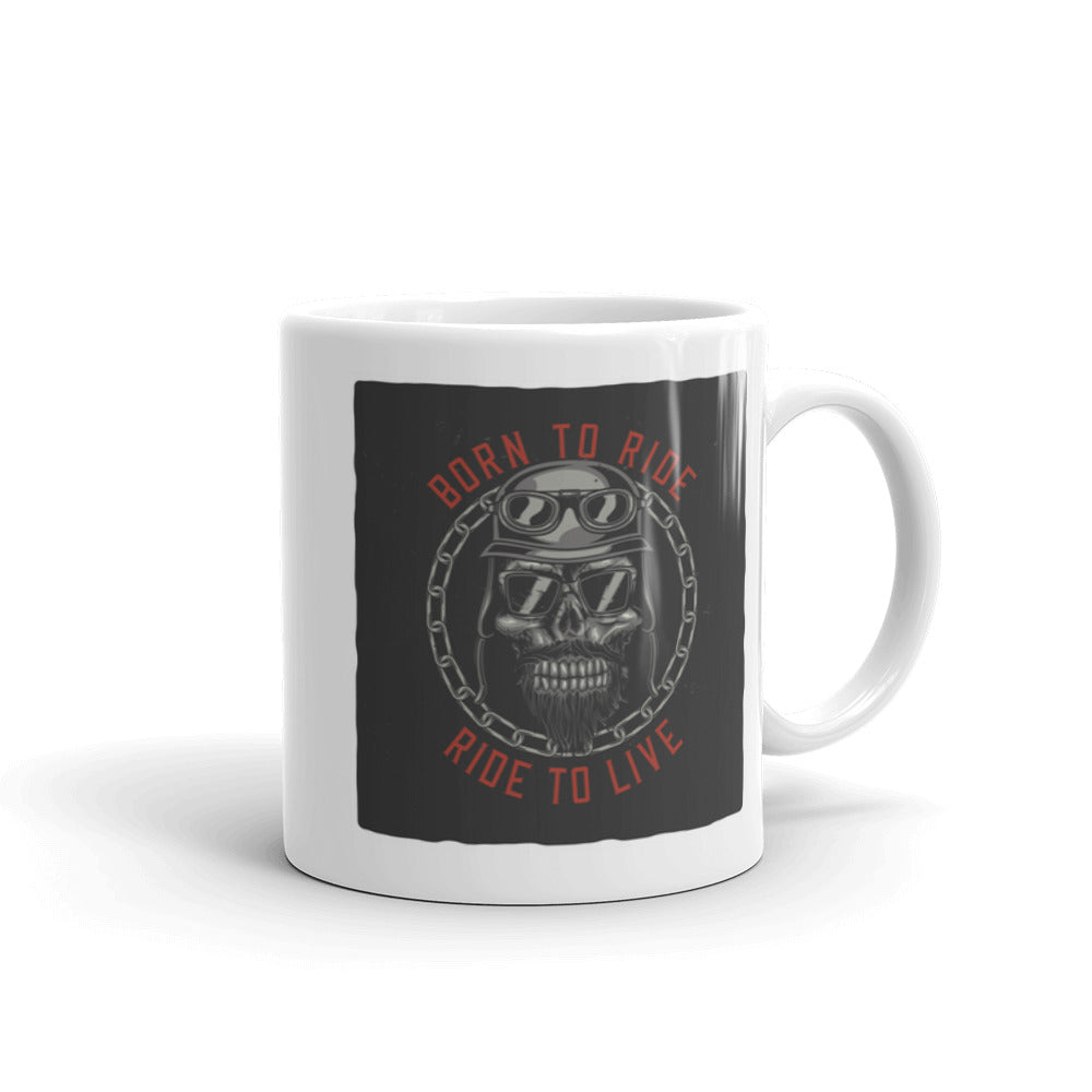 Born To Ride Ride To Live - Coffee Mug - SpuzzosDeals