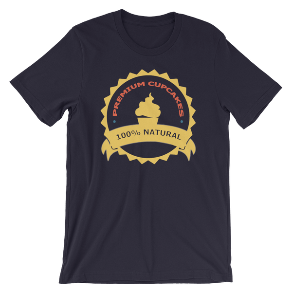 Premium Cupcakes 100% Natural Mens Tee Shirt - SpuzzosDeals