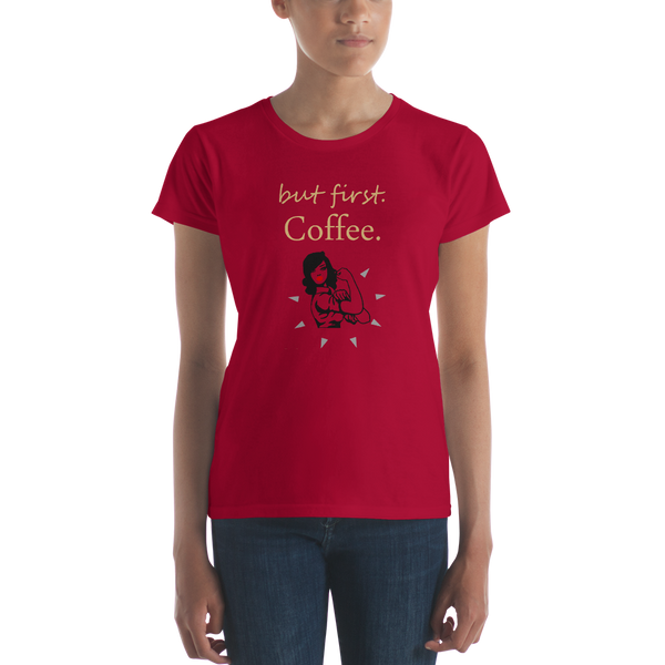 But First Coffee Women's  t-shirt 2 - SpuzzosDeals