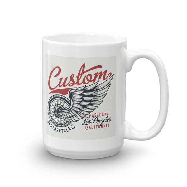 Custom Motorcycles Pasadena Los Angeles California - Coffee Mug - SpuzzosDeals