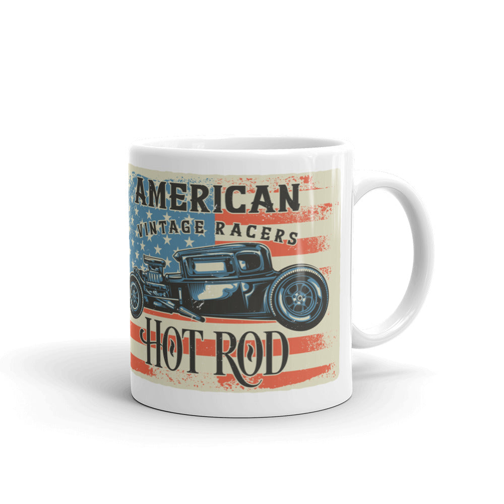 American Vintage Racers Hot Rod - Coffee Mug - SpuzzosDeals