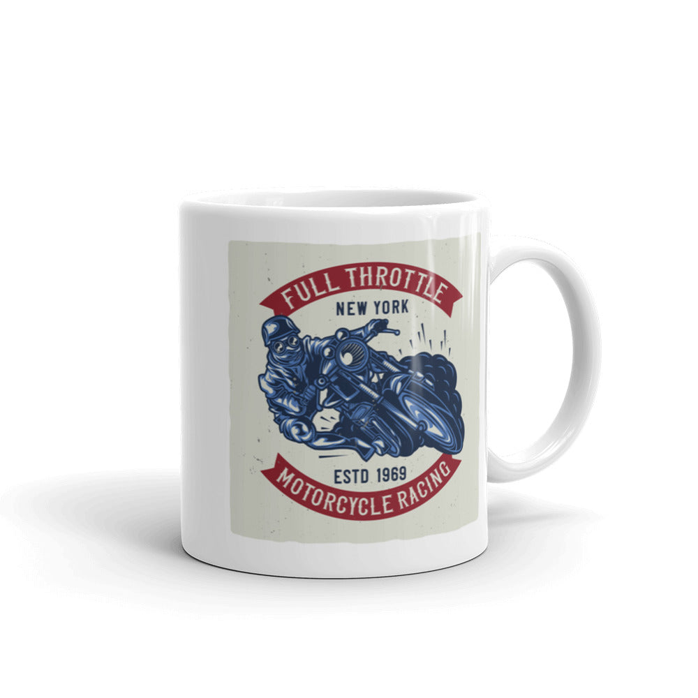 Full Throttle Motorcycle Racing - Coffee Mug - SpuzzosDeals